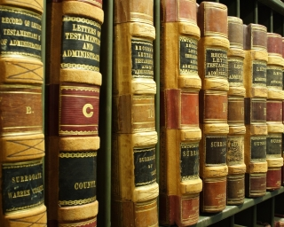 A-Z legal books on a shelf